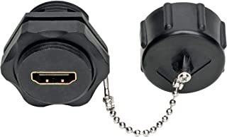 Tripp Lite 4K HDMI Coupler (F/Industrial Coupler, Wall Plate Coupler, 4K @ 60 Hz, IP67 Rated, Dust Cap, Black (P569-000-FF-Ind)