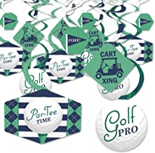 Par-Tee Time - Golf - Birthday or Retirement Party Hanging Decor - Party Decoration Swirls - Set of 40