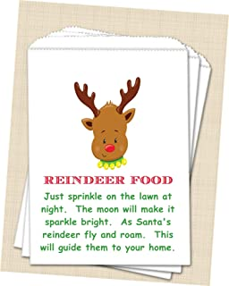 Christmas Reindeer Food Bags, Kids Christmas Reindeer Favor Bags