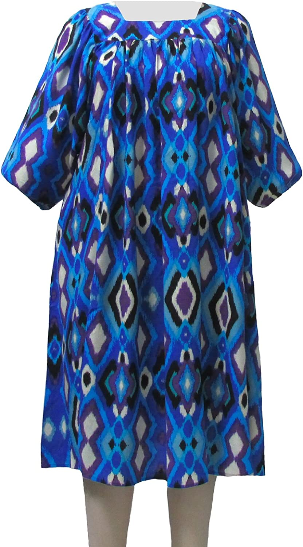 bluee Diamonds Float Dress Plus Size Women's Dress