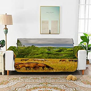 JXCSGBD Horse Herd Grazing Field On Horse Sofa Covers for Kids Sofa Chaise Cover Lodge Sofa Cover 66