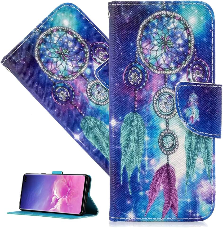 QIVSTAR Case Compatible for Samsung Galaxy A31 Side Pockets Colorful Painted All-Inclusive Protective Shell Leather Wallet Soft PU Leather Flip Case Cover for Samsung Galaxy A31 Dreamcatcher HX