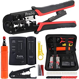 Sponsored Ad – Network Tool Kit, Preciva 97 in 1 Ethernet Ratchet Cable Crimper Tool with Wire Cutter Toolbox, 8P/6P RJ11,...