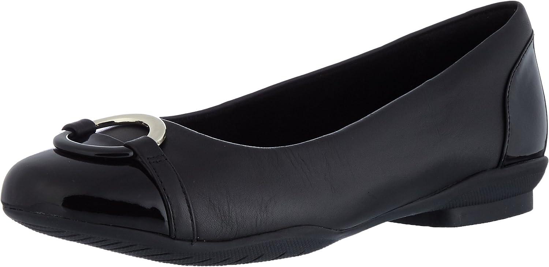 Clarks Neenah Vine - Black Leather Womens shoes