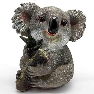 KERDITOO Koala Garden Statue Ornaments 7.48 Inches Polyresin Animal Outdoor/Indoor_Living Sculpture Decorations Natural color