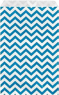 a169eb1203 200 pcs Blue Chevron Paper Gift Bags Shopping Sales Tote Bags 6