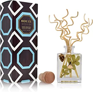 HOUZZ Interior Woodland Pine Reed Diffuser Oil Set – Cedar, Pine Needles and Sandalwood – Beautiful Display for Your Holid...