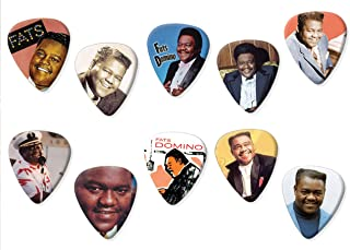 Fats Domino (Limited to 100) Set of 10 Electric Acoustic Guitar Plectrums