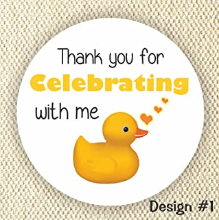 c29e8171277 Rubber Duck Favor Stickers - Neutral Gender Baby Shower Stickers - Rubber  Duck Favor stickers-