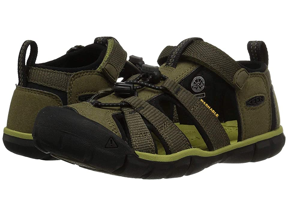 Keen Kids Seacamp II CNX (Little Kid/Big Kid) (Dark Olive/Black) Boys Shoes