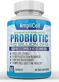 Probiotics 40 Billion CFU - Probiotics for Women, Probiotics for Men and Adults; Guaranteed Potency Until Expiration - Shelf Stable Probiotic Supplement - Acidophilus Probiotic with Natural Prebiotic