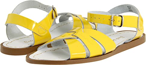 Salt Water Sandals by Hoy Shoes Girl's The Original Sandal (Big Kid/Adult) Shiny Yellow 9 M US Big Kid M
