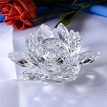 Crystocraft Bibelot Fleur rosargent avec /él/éments en cristal de Swarvoski