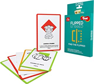 Toiing Flipped - General Knowledge Spot The Difference Card Game for Kids   Develops Memory   Age 5+ Years   Travel Friend...