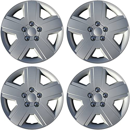 wholesale 16 sale inch Hubcaps Best for 2008-2010 Dodge Avenger - (Set of 4) outlet sale Wheel Covers 16in Hub Caps Silver Rim Cover - Car Accessories for 16 inch Wheels - Snap On Hubcap, Auto Tire Replacement Exterior Cap online sale