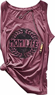 Unique Sleeveless MOM Life Printed Shirt Womens Cotton Tank Tops