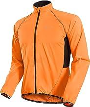 NUCKILY Multifunctionele fietsjas voor heren, windjack, fietsjack, hardloopjack, winddicht, waterafstotend, ademend, refle...