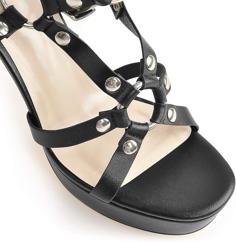 onlymaker Women's Stiletto High Heel Sandals Open Toe Platform Ankle Strap Sandals