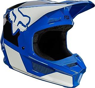 FOX V1 REVN Jugend Motocross Helm Blau/Weiß M 49/50