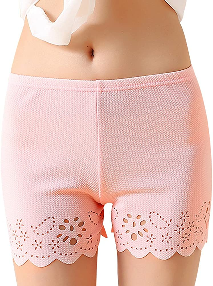 Yiiquan Femme Shorts de S/écurit/é en Motif Floral Vintage Respirant Stretch sous V/êtement Short Leggings
