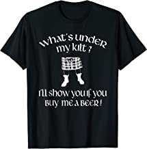 What's Under My Kilt Funny Scottish T Shirt Gift Idea