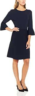 French Connection Women's Bell Sleeve Knit Dress, Blue (