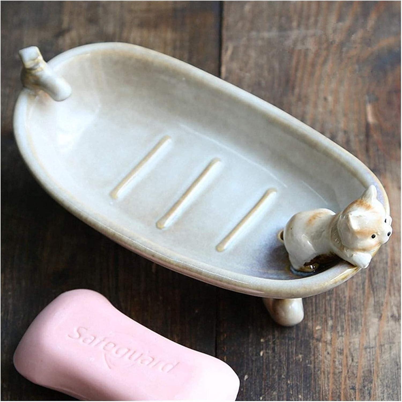 BUYT Soap T ray Cat Farmhouse Style Dish Soldering Same day shipping Ceramics Hol