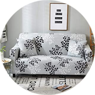 Elegant Modern Sofa Cover Spandex Elastic Polyester Floral 1/2/3/4 Seater Couch Slipcover Chair Living Room Furniture Protector,Model 23,3 Seat (190-230cm)