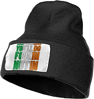 Ikinpo Conor McGregor 'You'll Do Fookin Nuttin Knit Cap Classic Beanie Hat Unisex