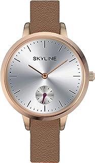 SKYLINE, Reloj de Pulsera, Reloj Analógico para Mujer, Correa Delgada y en Piel, Diseño Clásico, Ideal para Llevar al Trab...