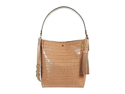 LAUREN Ralph Lauren Adley 25 Crossbody (Nude) Handbags