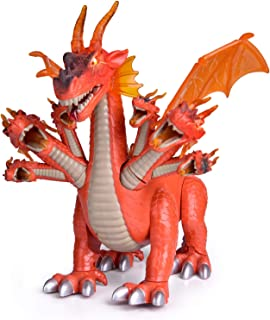 "FUN LITTLE TOYS 10"" Dragon Toys for Boys and Girls, 7 Headed Walking Toy Dragon Figure with Lights and Sounds, Birthday Gifts for Kids"