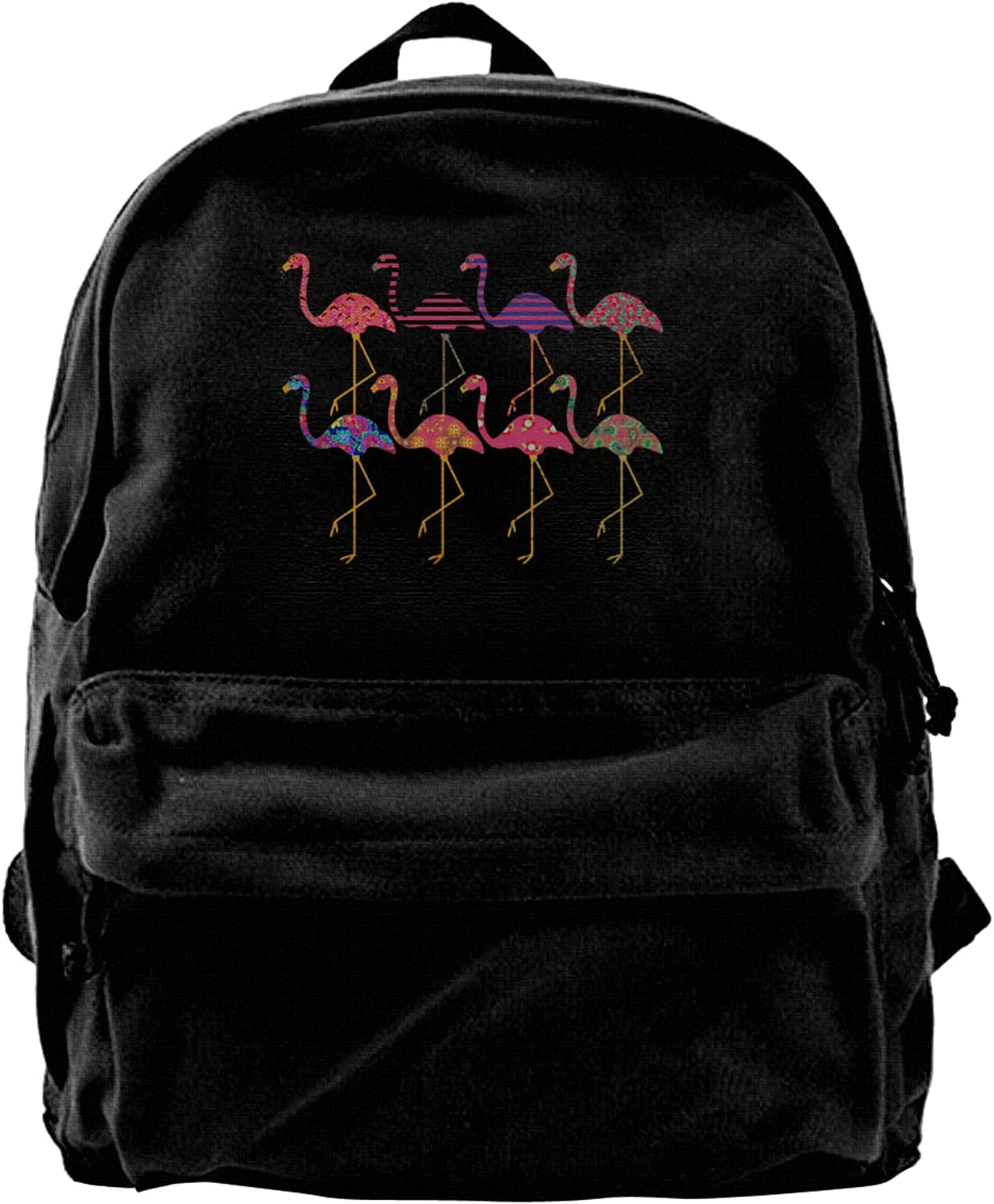 Fancy Flamingos 70% OFF Outlet Canvas Chicago Mall Backpacks Bags High-Capacity Schoo Laptop