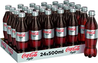Coca -Cola Light Carbonated Soft Drink, Pet Bottle - 500ml (Pack of 24)