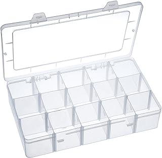 جعبه ذخیره سازی سازمان دهنده Outus Crafts Organiser Washi Tape ، لوازم آرایشی و برچسب ، 15 محفظه ، پاک
