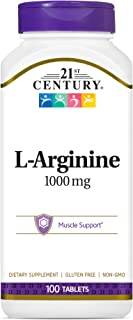 21st Century L Arginine 1000 mg Tablets, 100 Count