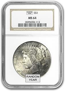 1922-1925 Peace Dollars $1 MS-64 NGC