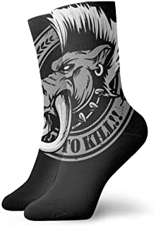 Wild Boar Men's Essential Casual Cotton Crew Socks
