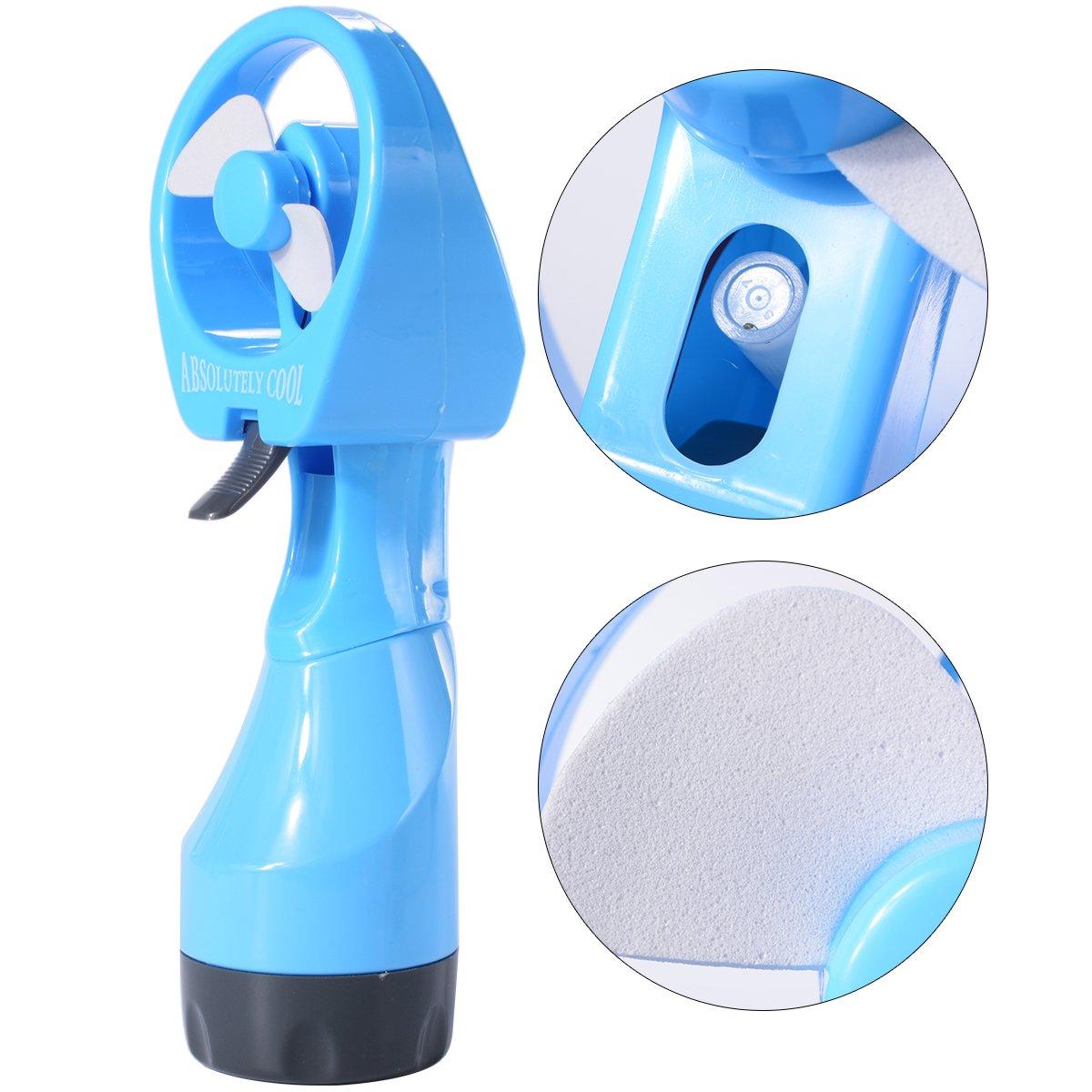 Lo más nuevo, mini ventilador de agua pulverizada de mano a pilas ...