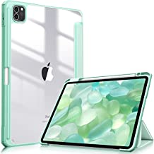 """Fintie Hybrid Slim Case for iPad Pro 11-inch (3rd Generation) 2021 - [Built-in Pencil Holder] Shockproof Cover w/Clear Transparent Back Shell, Also Fit iPad Pro 11"""" 2nd Gen 2020 / 1st Gen 2018, Green"""