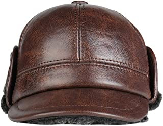 b5ceb536f7b DOSOMI Fashion Real Leather Warm Winter Cap with Ear Flaps Men Outdoor  Hunting Camouflage Jungle Hat