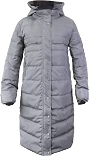 Women's Multi-Pocket Long Down Jacket with Hood