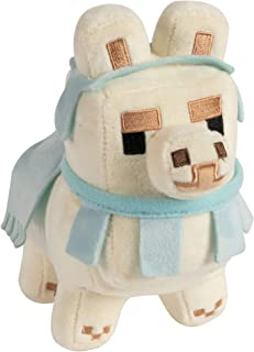 JINX Minecraft Happy Explorer Baby Llama Plush Stuffed Toy, White/Baby Blue, 6.5