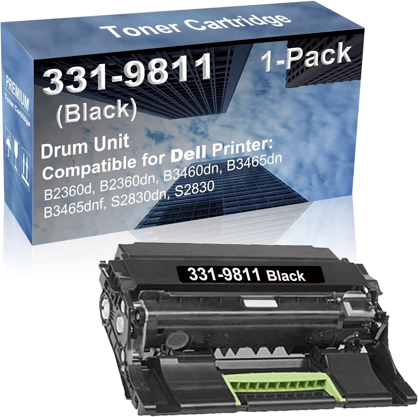 1-Pack Black Compatible B3460dn B3465dn Printer Unit Ranking TOP11 Rep Memphis Mall Drum
