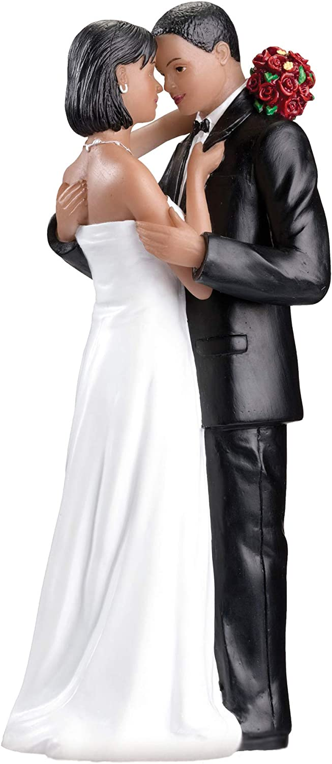 Lillian Rose African Popular 2021 model products American Bride Groom Cake Topper Wedding