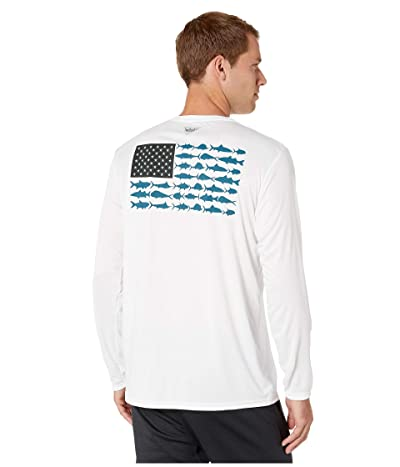 Columbia Terminal Tackle PFG Fishtm Long Sleeve Shirt (White/Dark Turquoise) Men