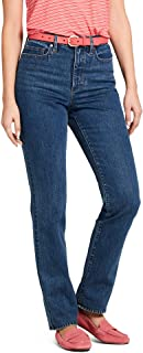 Lands Ends Women's High Rise Straight Leg Jeans Size 24W X 30 Color Medium Wash