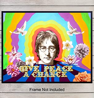 John Lennon Poster - Andy Warhol Pop Wall Art Print - Unique Gift for Beatles and 60s, 70s and 80s Music Fans - Chic Home Decor for Bedroom, Den, Rec or Family Room - 8x10 Photo Unframed