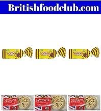 Bundle of 6 Lakeland Bake Traditional British Crumpets x 3 Packs and Soreen Sliced Malt Loaf 280g x 3 Packs Delivers 3-5 Days US