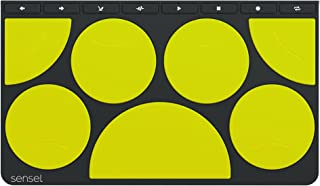 Drum Pad Overlay for The Sensel Morph, a Multi-Touch, Pressure Sensitive Input Device with Swappable Overlays for Artists, Musicians, Video Editors and All Kinds of Creators (USB and Bluetooth)